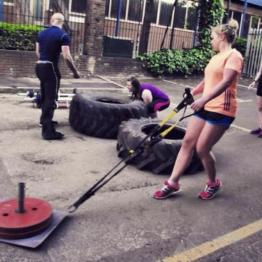 Strongman sledge drag weights