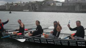 Dad rowing at the Cleddau Regatta