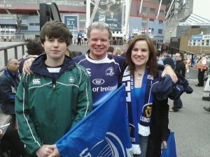 Me, Dad and Bro at the Heineken Cup Final!